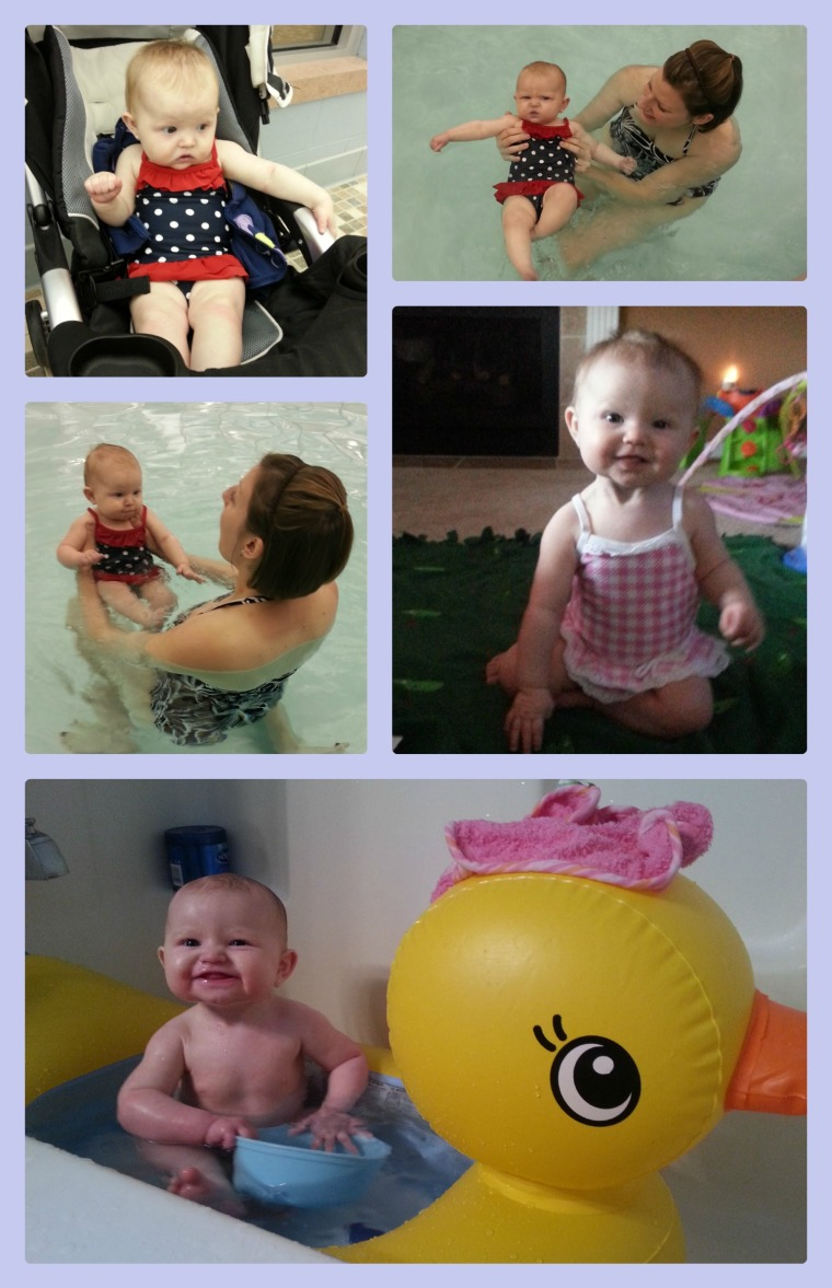Water baby collage