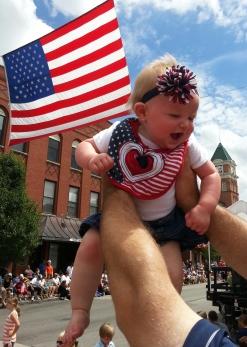 7_4 parade flag baby