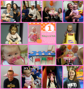 1st Birthday Party collage png